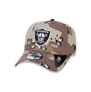 Boné New Era 940 Raiders Camuflado - Marrom