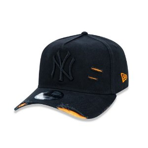 Boné New Era 940 New York Yankees Destroyed - Preto