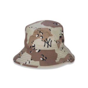 Bucket New Era New York Yankees Camuflado - Marrom