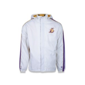 Jaqueta Corta vento New Era Reborn Windbreaker Los Angeles Lakers - Off White