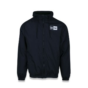 Jaqueta Corta vento New Era Windbreaker Basic Logo Box - Preta