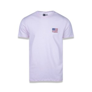 Camiseta New Era USA Flag - Rosa