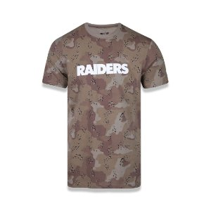 Camiseta New Era Oakland Raiders - Camuflado