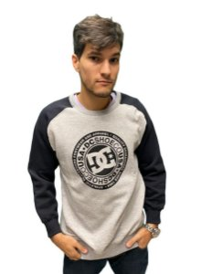 Moletom DC Careca Circle Raglan