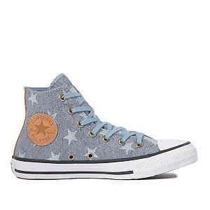Tênis Converse Chuck Taylor All Star Estrelas Hi - Azul
