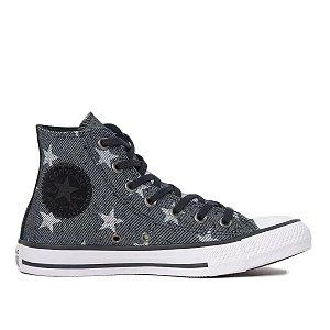 Tênis Converse Chuck Taylor All Star Estrelas Hi - Preto
