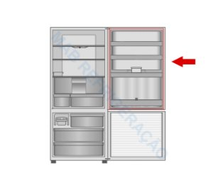 Borracha porta do refrigerador PANASONIC NR-BB51 NR-BB52 NR-BB53