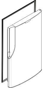 Borracha da porta do refrigerador PANASONIC NR-BT51