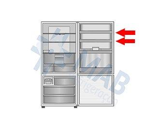 Prateleira superior da porta do refrigerador NR-BB52