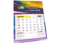 FOLHINHA 2021 DUPLEX | 250G | VERNIZ TOTAL FRENTE | 24 X 35CM | FURO E BLOCOS DE CALENDÁRIO
