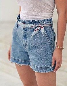 Shorts Jeans Bolso Faca