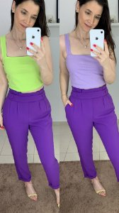 Top Cropped Rib Dupla Face