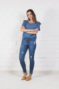 Calça Jeans Recorte Barra