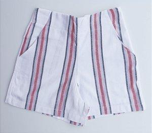 Shorts Linho Listrado