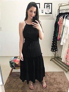 Vestido Midi Cinto Forrado