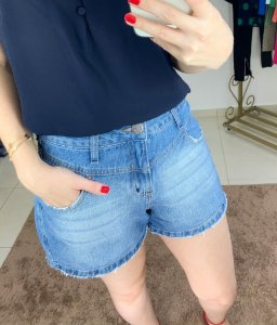 Shorts Jeans Mom Recortes