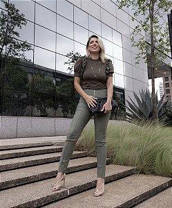 Calça Skinny Zíper
