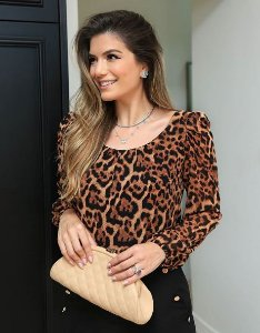 Blusa Manga Princesa Animal Print