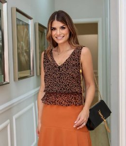 Regata Peplum Animal Print