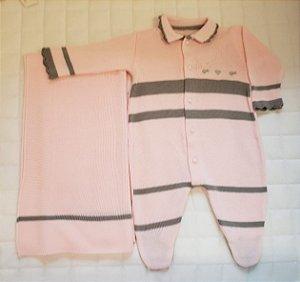 Saida De Maternidade  Tricot - Rosa-cinza M1
