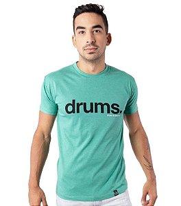 Camiseta Drums Verde Mescla