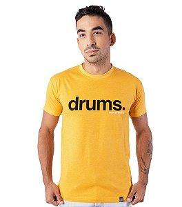 Camiseta Drums Amarelo Mescla