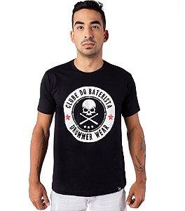 Camiseta Clube do Baterista - Drummer Wear Preta