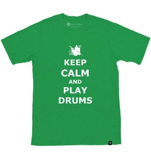 Camiseta Keep Calm And Play Drums