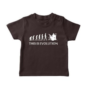 Camiseta This is Evolution Preta Infantil