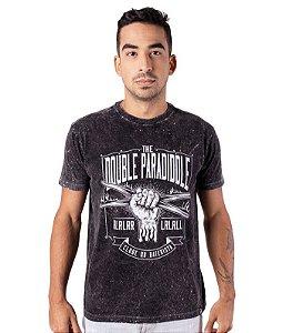 Camiseta The Double Paradiddle Preta Marmorizada