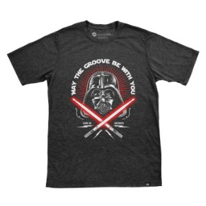 Camiseta May The Groove Be With You Preta Mescla
