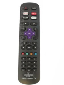 Controle Remoto TV LED AOC Roku TV 32S5195/78G / 43S5195/78G com Netflix / Google Play / DAZN / Deezer (Smart TV)