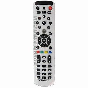 Controle Remoto Para receptor AttoNet Net X Atto TV