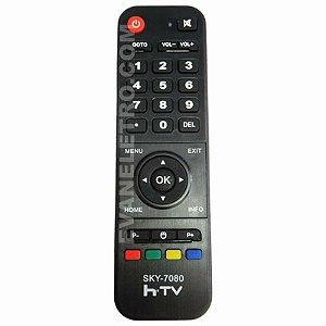Controle Remoto para Receptor HTV SKY-7080