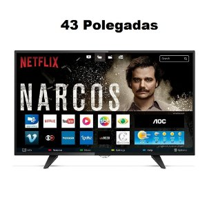 Smart Tv Led Aoc 43 Polegadas Le43s5970s Full HD Wi-Fi 2 USB 3 Hdmi (1500,00 via deposito)