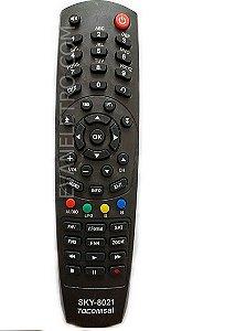 Controle remoto para receptor Tocomsat sky-8021 / FBG-7003 / FBG-8021