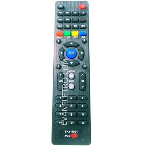 Controle remoto para receptor SKY-8001 / LE-7816 / RBR-7149
