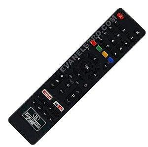 Controle Remoto TV LED Britânia BTV32G51SN / BTV40E63SN com Netflix e Youtube (Smart TV)