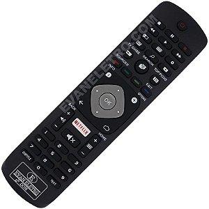 Controle Remoto TV LED Philips YKF406-001 / 32PFH5501 / 40PFH5501 / 49PFH5501 / 55PUS6401 com Netflix (Smart TV)