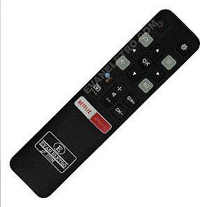 Controle Remoto TV LED TCL RC802V / 50P8M / 55P8M / 65P8M com Netflix e GloboPlay (Smart TV)
