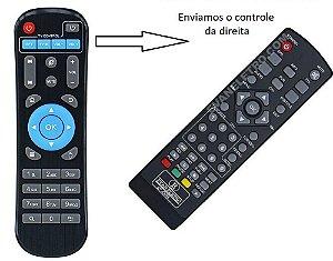 Controle Remoto Para Receptor Duo Tv Prime 4K (Enviamos o da esquerda)