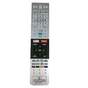 Controle Remoto Para SmarTV SEMP Tochiba CT-8536 Com Netflix Google Play