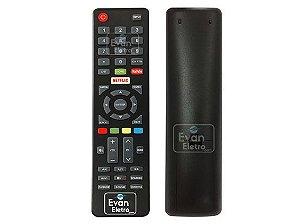 Controle Remoto TV LED Haier HR50U3SDK1 / HR58U3SDK1 com Netflix e Youtube (Smart TV)
