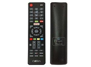 Controle Remoto TV LED Cobia CTV39HFDSM / CTV40FHDSM com Netflix e Youtube (Smart TV)