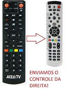 Controle Remoto para Receptor Atto.TV Pixel Core