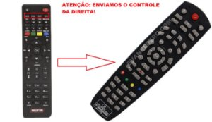 Controle Remoto Receptor Phantom MINI F90 HD