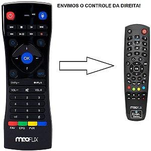 Controle Remoto para Receptor Meoflix QBIC