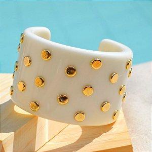 Pulseira Resina Gota Dourada