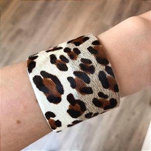 Pulseira Animal Print Grande Leopardo