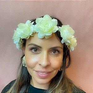 Coroa de Flor Off White (Marfim)